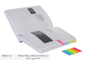 Supplier ATK Bantex 8870-01 Flexi Tab 5 Neon Colours 12x45mm Blue Harga Grosir