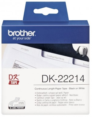 Supplier ATK Brother DK-22214 Continuous Length Paper Tape 12mm (30.48m) Harga Grosir