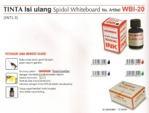 Supplier ATK Snowman WBI-20 Tinta Spidol Whiteboard Harga Grosir