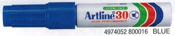 Supplier ATK Artline 30 Spidol Permanent Biru Harga Grosir
