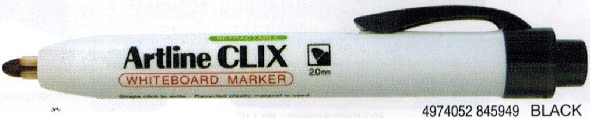 Supplier ATK Artline 573A Spidol Whiteboard Clix Hitam Harga Grosir