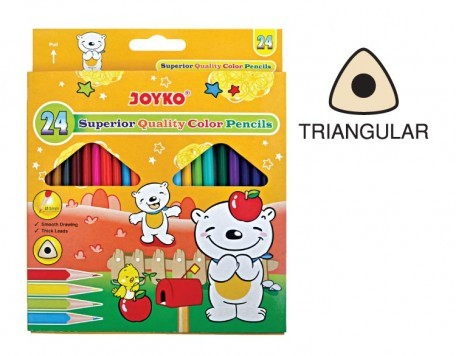 Supplier ATK Joyko Pensil Warna CP-TR-24PB (24 Warna) Triangle Harga Grosir
