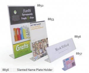 Supplier ATK Bantex 8856-08 Slanted Name Plate Holder Harga Grosir