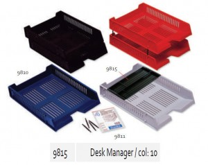 Supplier ATK Bantex 9815-10 Desk Manager Black Harga Grosir