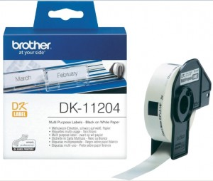 Supplier ATK Brother DK-11204 Multi Purpose Label (17mm x 54mm) 400 labels Harga Grosir