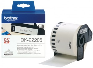 Supplier ATK Brother DK-22205 Continuous Length Paper Tape 62mm (30.48m) Harga Grosir