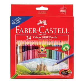 Supplier ATK Faber Castel 115855 Pensil Warna Tri Grip 24 Harga Grosir