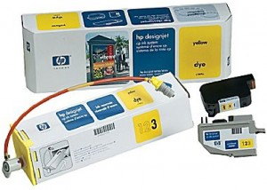 Supplier ATK HP 09 (C1809A) Yellow Designjet CP Ink System Harga Grosir